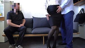 warm secretary fucked by two colleagues - business-bitch