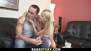Punished blonde teen takes it raunchy from behind
