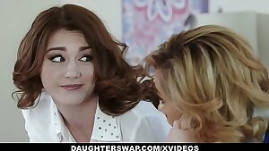 DaughterSwap - Two Hot Daugthers (Piper Palmer) (Rosalyn Sphinx) Get Fucked By Their Bitchy Moms