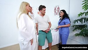 Thick Busty Docs Angelina Castro & Karen Fisher Fuck Patient