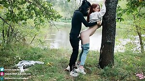 Seems my ex saw everything! Extreme sex in the woods - MollyRedWolf