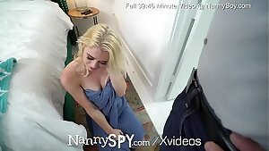 NannySpy Sneaky nanny Anastasia Knight new years eve plow by HUGE dick