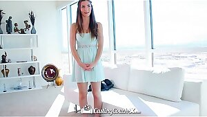 HD CastingCouch-X - Beautiful Molly Jane with innate tits auditioning for sex