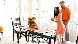 Passion-HD - Guy fucks his step daughter Carolina Sweets on Thanksgiving