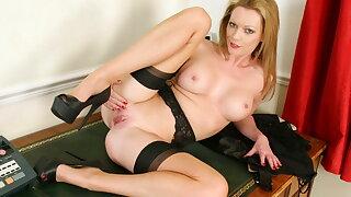 British mummy Holly Kiss will be your hot secretary today