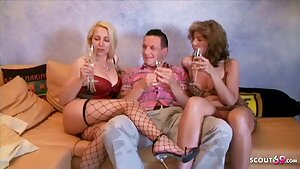 2 German Matures in First-timer Threesome with Big Brother Klaus