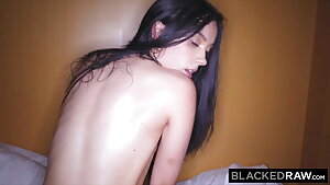 BLACKEDRAW, Raven-haired beauty cheats on BF with huge BBC