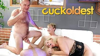 Older Gunther Cuckolding his Slutty Mature Wife