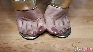 Nylon Soles And Golden Sandals