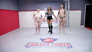 Women Wrestling with Coochie Eating Kyra Rose vs Nikki Sequoia