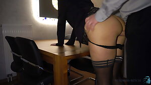 boss fucks assistant anally on the table - business-bitch