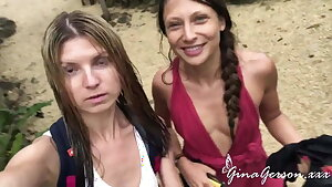 Gina Gerson and Talia Mint enjoy super-sexy vacation time