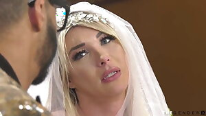 Magnificent trans bride cheating with her ex paramour BBC