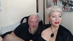 A real husband fucks his wifey in all fuck-holes in private show... )))