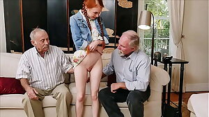 BLUE PILL Fellows - Old Fellows Use Technique To Hook Up With Petite Redhead Teen Dolly Little