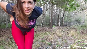 I fingered my wet pussy outdoors and almost got caught