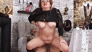 Granny witch fucked on Halloween
