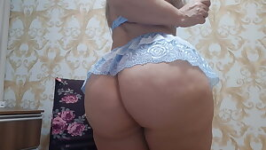 sensual dance and shaking jummy blue lingerie
