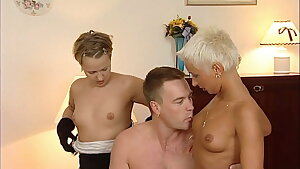 German swinger gang - 90s retro with youthfull Mandy Mystery