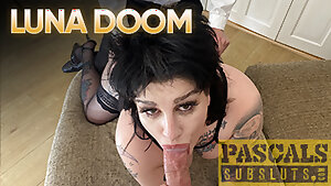PASCALSSUBSLUTS - UK Luna Doom Pussy Drilled By Pascal White