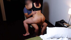 Big Ass Redhead Cowgirl Riding On A Chair