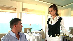 Lucky man got a threesome at the cruise ship restaurant, wow